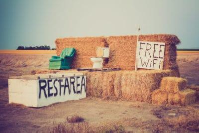 Humorous roadside Rest Area near Alliance, Nebraska